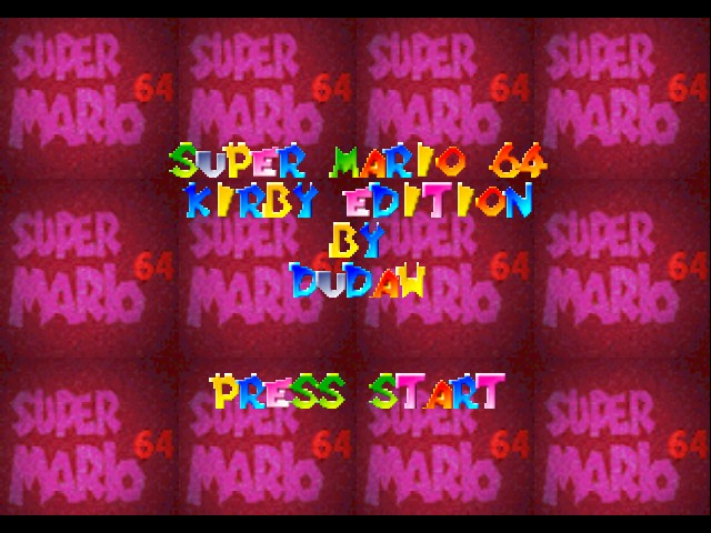 Super Mario 64 - Kirby Edition - Title Screen - User Screenshot